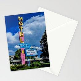 The Blue Sky Motel, Vintage Motel Signs, Bozeman, Montana Stationery Cards