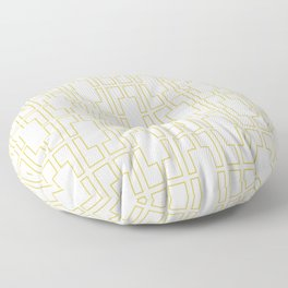 Simply Mid-Century in Mod Yellow Floor Pillow