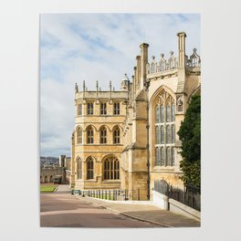 Sunshine on St. George's Chapel at Windsor Castle Poster