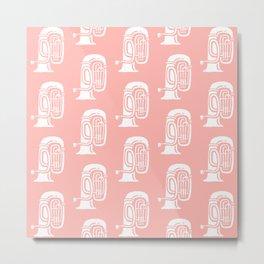 Tuba Pattern Peach Metal Print