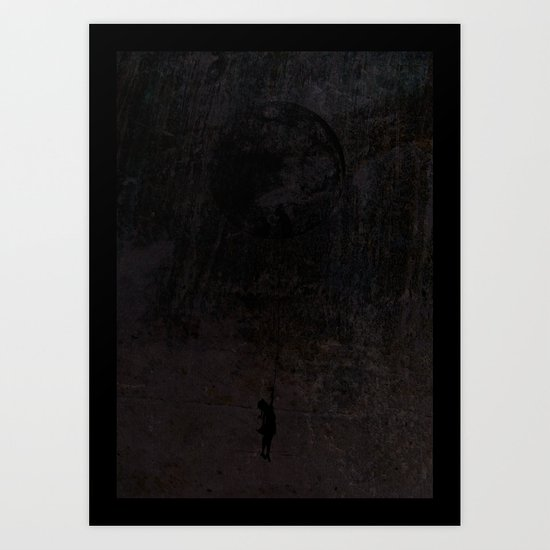 The secret of a girl at night Art Print