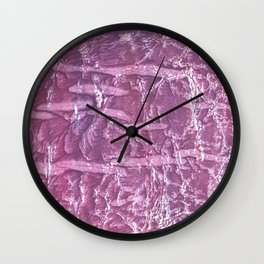 Purple marble wash drawing Wall Clock