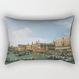 Canaletto Bernardo Bellotto  -  Return Of il Bucintoro On Ascension Day Rectangular Pillow