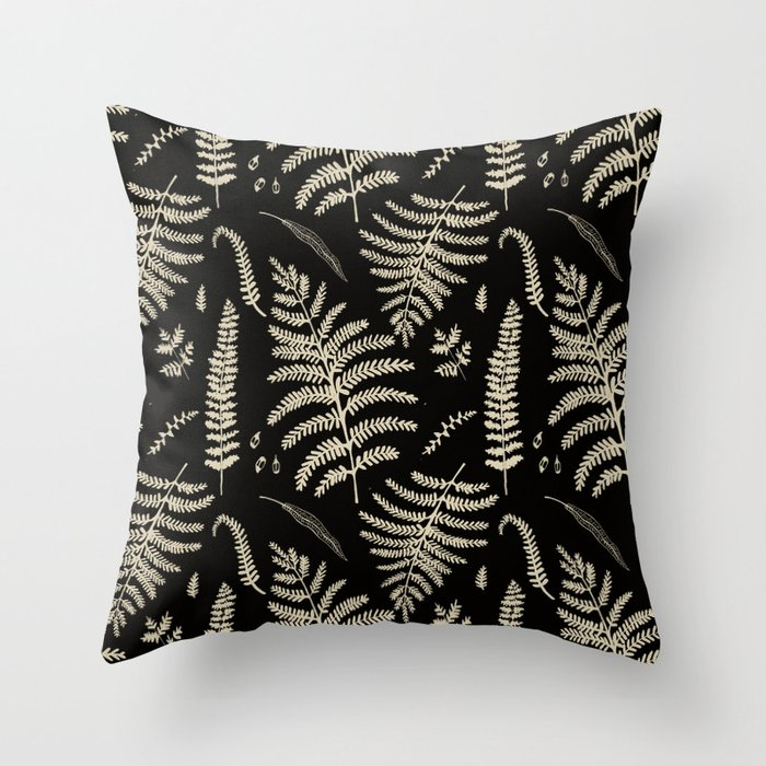 Fern Pattern 2 Throw Pillow
