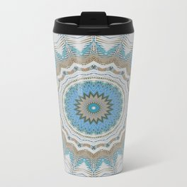 Dreamcatcher Teal Metal Travel Mug