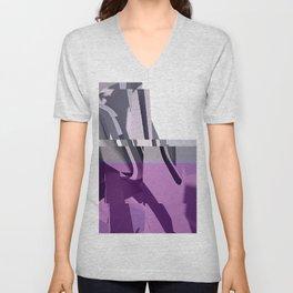Abstract Glitch 01 Unisex V-Neck