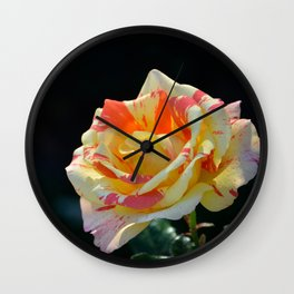 Autumn Rose by Teresa Thompson Wall Clock