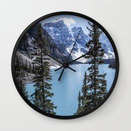Landscape Lake Moraine Crystal Blue Waters Wall Clock