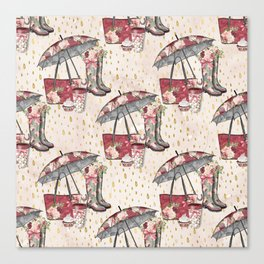 Autumn & Umbrella 5 Canvas Print