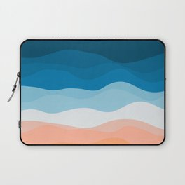 Lone Surfer On The Beach Laptop Sleeve