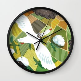 Nils With Wild Geese Wall Clock