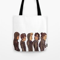 cargline Tote Bags featuring Post Apocalyptic  by cargline