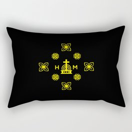 Affluence and God's Protection - Gold and Black Rectangular Pillow