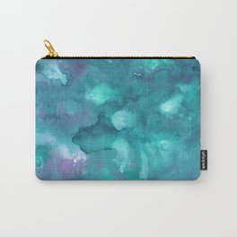 Dreamy Ocean Abstract Painting #2 #ink #decor #art #society6 Carry-All Pouch
