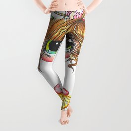Sherri Baldy My Besties Sugar Plum Treats Big Eyed Art Leggings