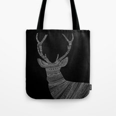 Stag / Deer (On Black) Tote Bag