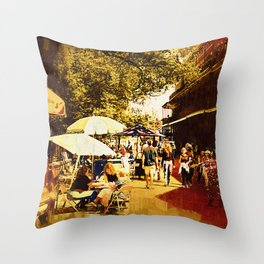 Gothic New Orleans Throw Pillow