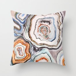 Geode Agate Stone - Nature Throw Pillow