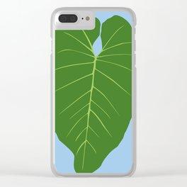 "Tropical ""Elephant Ear"" Leaf Clear iPhone Case"
