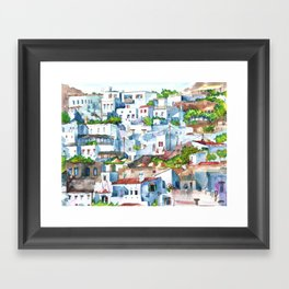 Panorama of Lindos Framed Art Print