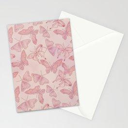 Butterfly Pattern soft pink pastel Stationery Cards