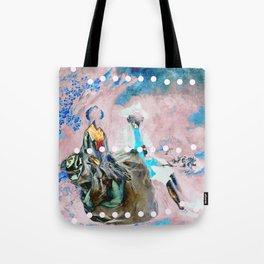 The Lovers In Pink Tote Bag