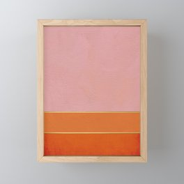 Orange, Pink And Gold Abstract Painting Framed Mini Art Print