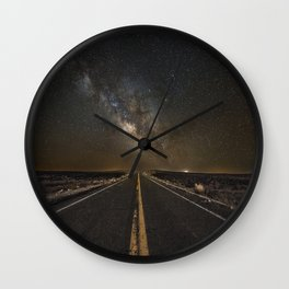 Go Beyond - Road Leads Into Milky Way Galaxy Wall Clock