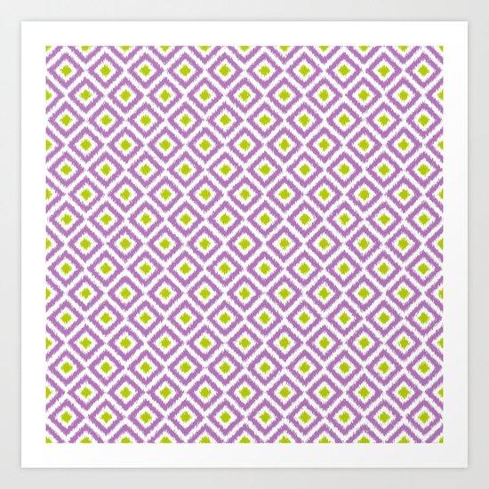 Purple and Green Diamonds Art Print