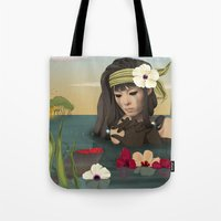 sad Tote Bags featuring Sad by ANVIK