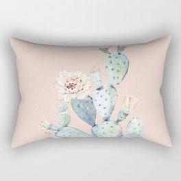 Desert Rose Cactus Pink Rectangular Pillow