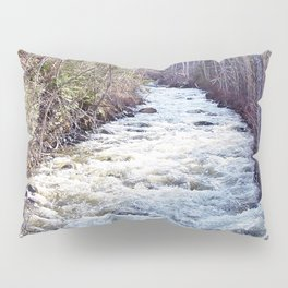 White Water in the Forest Pillow Sham