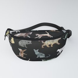 Cats shaped Marble - Black Fanny Pack