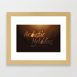 Acoustic Melodies Framed Art Print