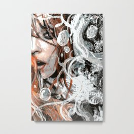 The Kitchen is Burning Metal Print