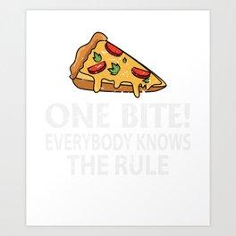 One Bite Pizza Lover Gift Art Print