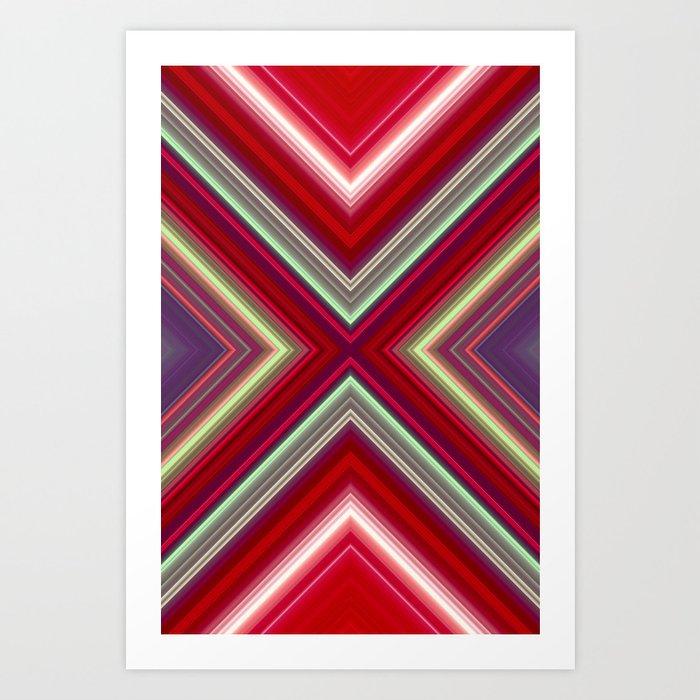 Electronic Ruby Art Print