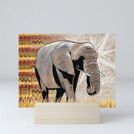 Elephant Safari Mini Art Print