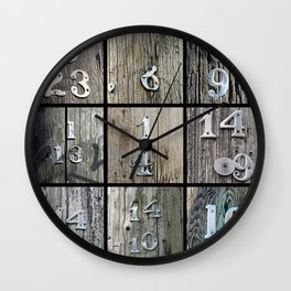 Hydro Pole Numbers Wall Clock
