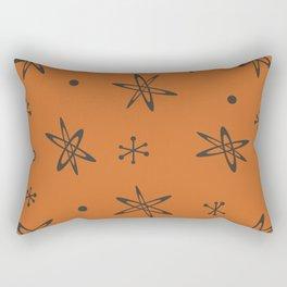 Atomic Era Space Age Burnt Orange Rectangular Pillow