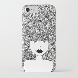 Big Hair Don't Care iPhone Case