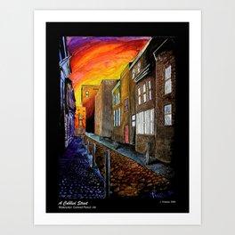 A Cobbled Street Art Print