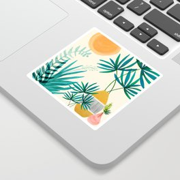 Moroccan Garden / Whimsical Landscape Sticker
