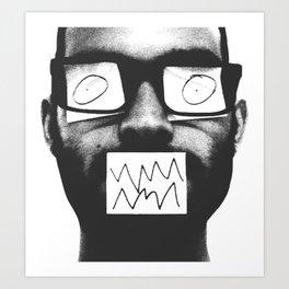 Post it Man Art Print