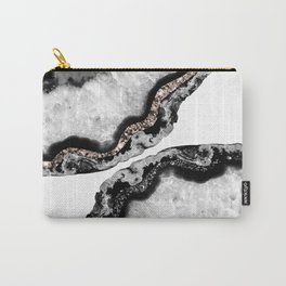 Yin Yang Agate Glitter Glam #1 #gem #decor #art #society6 Carry-All Pouch