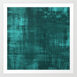 Teal Green Solid Abstract Art Print