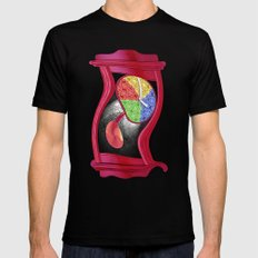 Dali Grandfather Clock Mens Fitted Tee Black MEDIUM