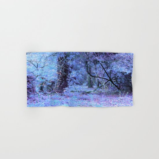 Periwinkle Tree Landscape Hand & Bath Towel