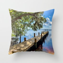 Summertime Tranquility In Florida Throw Pillow