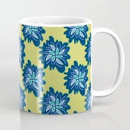 Blue Abstract Floral  Coffee Mug